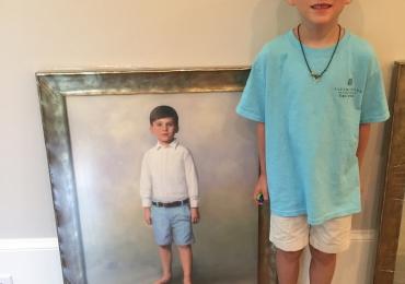 Tablouri portret la comanda, portrete la comanda, Tablouri pictate personalizate, idei de cadouri pentru nepoti