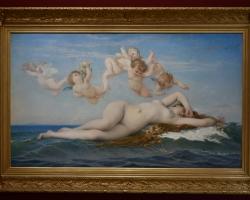 The Birth of Venus, Alexandre Cabanel, Tablou cu peisaj marin, tablou cu femeie pe valurile marii, tablou cu ingerasi, tablou cu femeie nud