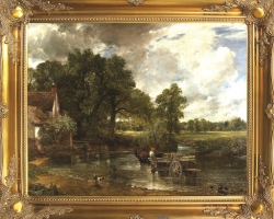The Hay Wain by John Constable, Tablou cu peisaj de vara, tablou cu peisaj rural, tablouri living, picturi in ulei pe panza, picturi cu peisaje