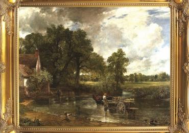 The Hay Wain by John Constable, tablou cu peisaj de vara