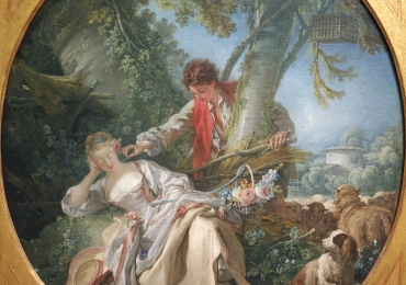 The Interrupted Sleep François Bouchertablou peisaj de vara cu indragostiti, Tablouri Pictori Celebri, Reproduceri Picturi Celebre
