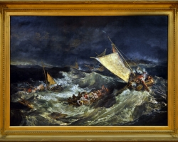 The shipwreck, exhibited 1805 Joseph Mallord William Turner, Tablou cu peisaj marin cu vapoare, tablou cu valurile marii, tablou nautic, tablou cu furtuna pe mare, tablou cu naufragiati
