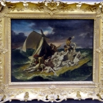 Theodore Gericault, The raft of the Medusa, 1818, Tablou cu peisaj marin cu vapoare tablou nautic, tablou cu malul marii, tablou cu furtuna, tablou cu naufragiati