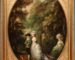Thomas Gainsborough, Henry, Duke of Cumberland with the Duchess of Cumberland and Lady Elizabeth Luttrell, tablou peisaj de vara
