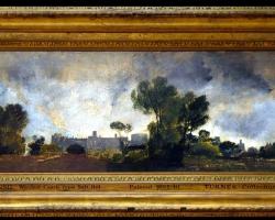 Tree tops and sky, Guildford Castle, evening 1807, Joseph Mallord William Turner, Tablou cu peisaj de toamna