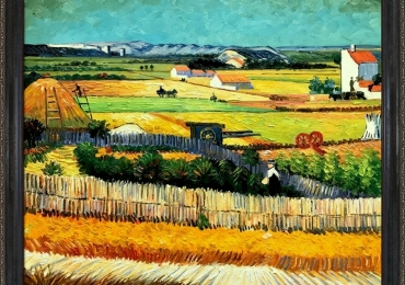 Van Gogh. The Harvest. Tablou pictat manual in ulei pe panza. Gama lux
