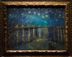 Vincent Willem van Goghtablou peisaj de vara cu noapte instelata, Tablouri Pictori Celebri, Reproduceri Picturi Celebre