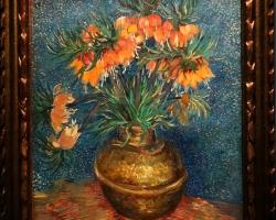 Vincent van Gogh, Fritillaires couronne imperial dans un vase de cuivre, Tablouri cu flori Realiz