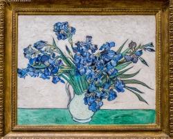 Vincent van Gogh,  Iris, 1890, Tablouri cu flori Realizate la Comanda, Reproduceri Picturi Cele