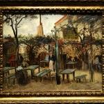 Vincent van Gogh, La Guinguette a Montmartre Le Billard en bois, Tablou cu peisaj de toamna, tablouri living, picturi in ulei pe panza, picturi cu peisaje