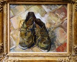 Vincent van Gogh, Shoes, 1888, Tablouri cu pantofi uzati Reproduceri Picturi Celebr