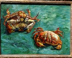 Vincent van Gogh, Two Crabs, 1889, Tablouri cu crabi Realizate la Comanda, Reproduceri Pictu