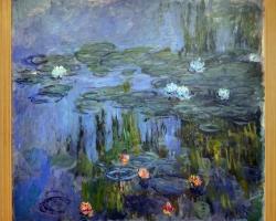 Waterlilies, impressionism, Claude Monet lac cu fiori, tablou cu flori de gradina, tablou floral, peisaj cu flori de nufar