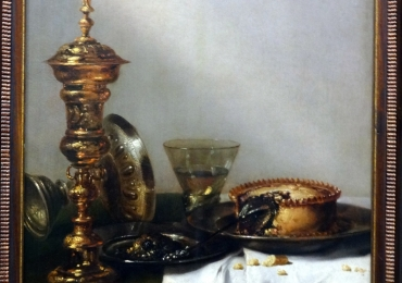 Willem Claesz Heda  Breakfast still life with lidded gobletTablou natura moarta, tablou natura statica