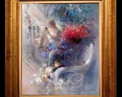 Willem Haenraets 1940, tablou cu peisaj impresionist,Tablou modern, tablou decorativ, tablou sufragerie, tablou dimensiune mare, tablou cu flori
