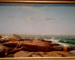 William Haseltine Narragansett Bay 1864, tablou peisaj de vara, tablou peisaj marin, Tablouri Pictori Celebri, Reproduceri Picturi Celebre