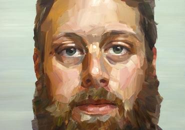 portret de barbat cu barba, Comenzi tablouri personalizate, portrete la comanda, Tablouri pictate pe panza