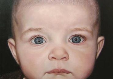 tablou cu bebelus, Tablou la comanda pret, portrete la comanda, Tablouri pictate personalizate
